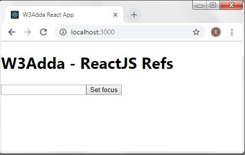 ReactJS Refs