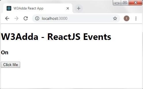 ReactJS Events