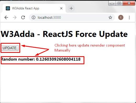 ReactJS Force Update