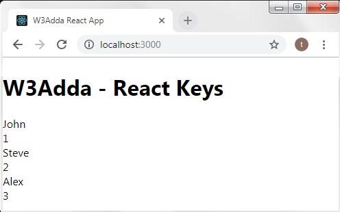 React Js Keys
