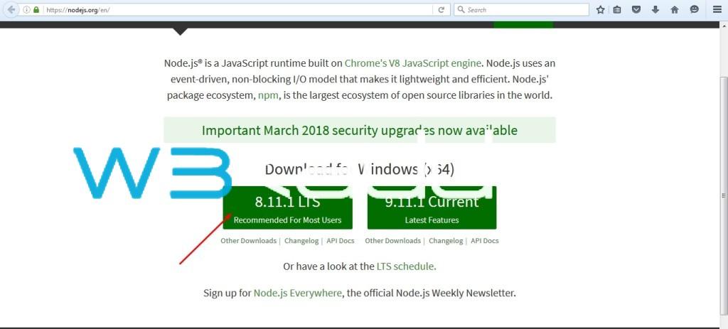 Node js Installation 1
