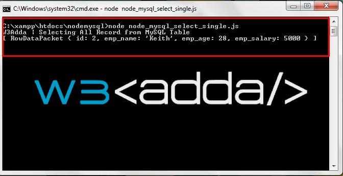 Node.js MySQL Select Records 2