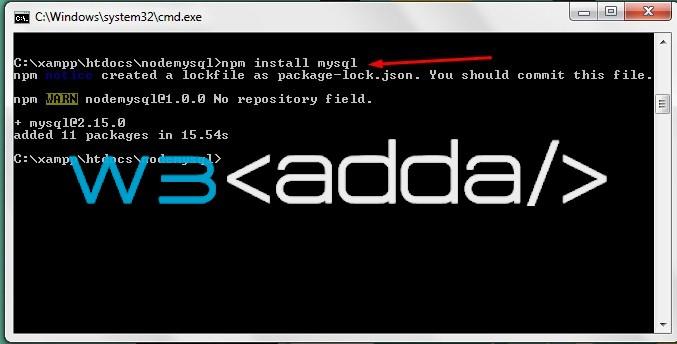 Node.js MySQL Connection 3