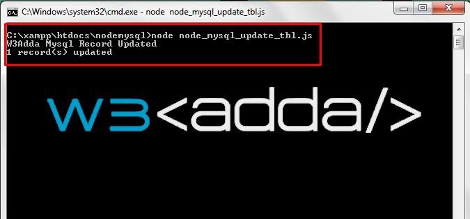 Node.js MySQL Update Records 1