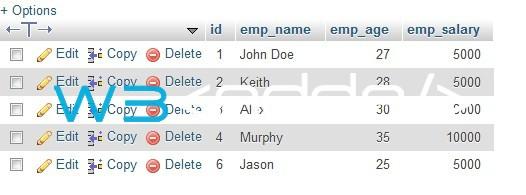 Node.js MySQL Delete Records 2