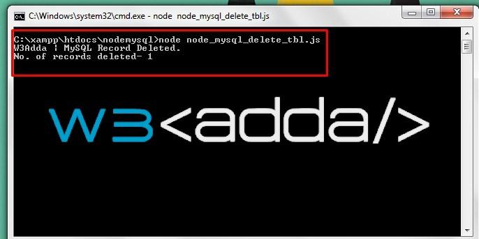 Node.js MySQL Delete Records 1