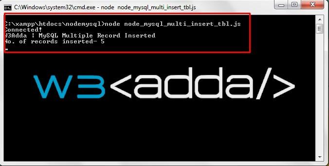 Node.js MySQL Insert Records 3