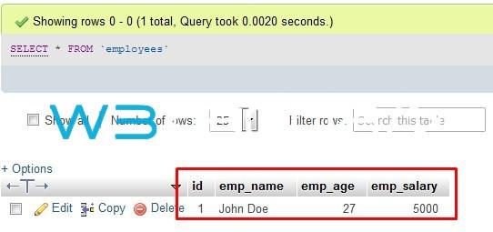 Node.js MySQL Insert Records 2