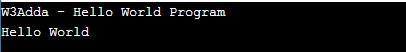 c_program_to_print_hello_world