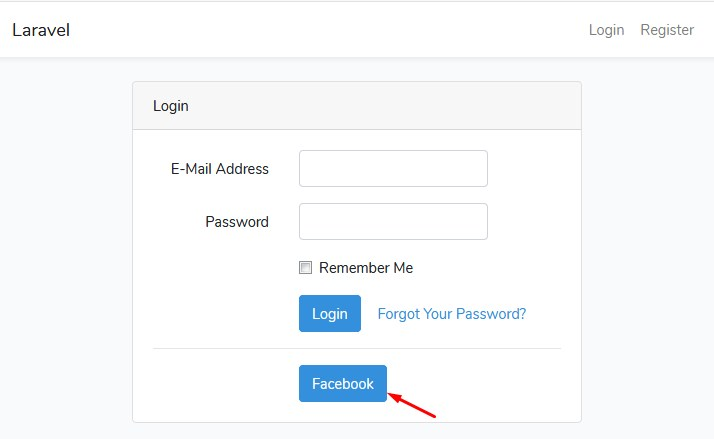 laravel-5-8-socialite-facebook-login-page