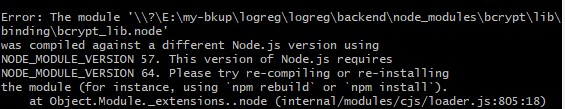 """How to fix """"module was compiled against different Node.js version"""" error"""
